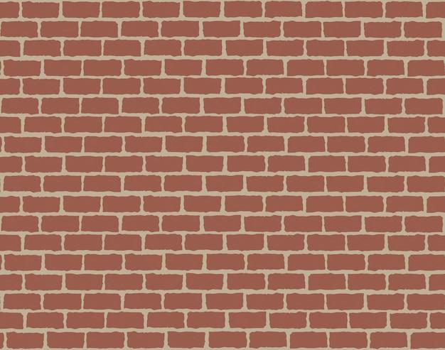 Plano de fundo sem emenda do padrão de parede de tijolo vermelho.