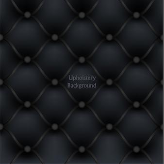 Plano de fundo texturizado de móveis de couro preto estofados.