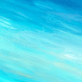 Plano de fundo texturizado de pincel acrílico abstrata de teal
