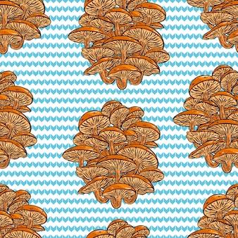 Plano de fundo transparente de cogumelos