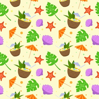 Plano de fundo transparente. férias de verão. ilustração vetorial. coquetel de abacaxi.