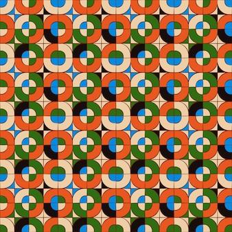Plano de fundo transparente, padrão de geometria de mosaico cruzado quadrado redondo.