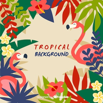 Plano de fundo tropical