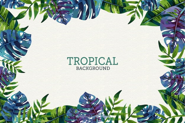 Plano de fundo tropical