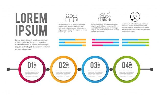 Plano de informações de negócios de dados de infográfico