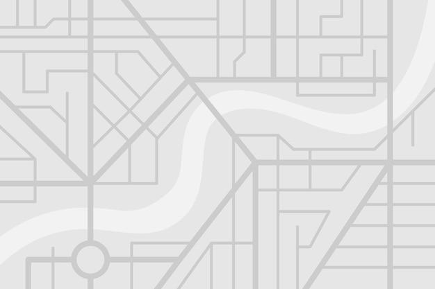 Plano de mapa de ruas da cidade com rio. esquema de ilustração de eps de cor cinza vetorial