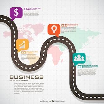 Plano de negócios infográfico mundial