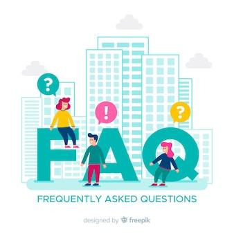 Plano de perguntas frequentes fundo