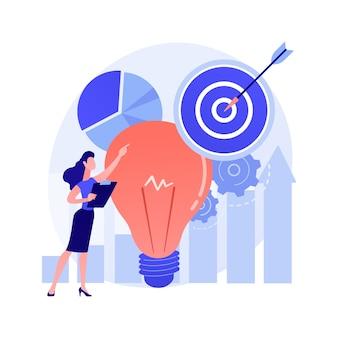 Plano de vendas para conceito abstrato de negócios