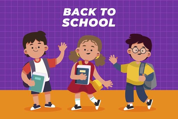 Plano de volta ao fundo da escola