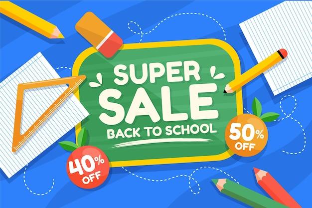 Plano de volta ao fundo de venda da escola