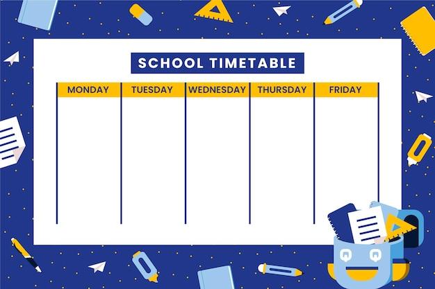 Plano de volta ao horário escolar