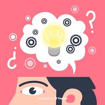 Plano, desing, pensando, conceito, fundo