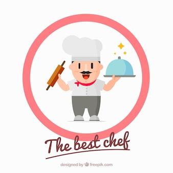 Plano, fundo, cozinheiro, cor-de-rosa, círculo