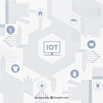 Plano moderno de circuito e conectividade