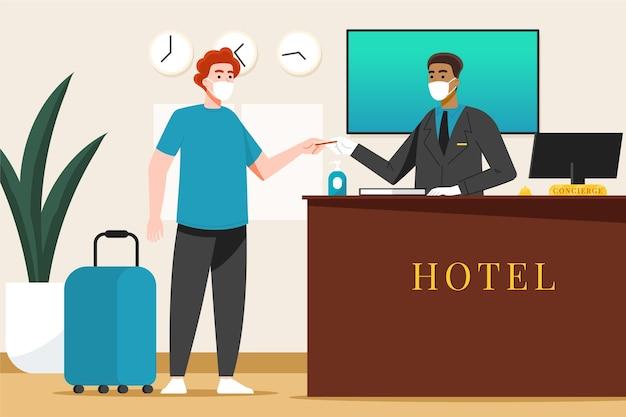 Plano orgânico novo normal em hotéis