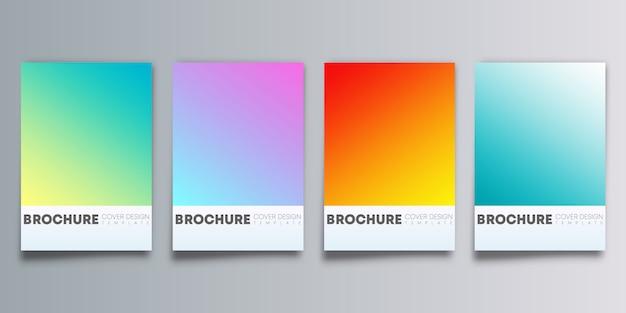 Planos de fundo coloridos gradientes definido para flyer