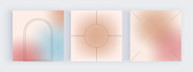 Planos de fundo gradiente azul e rosa para banners de mídia social