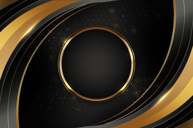 Planos de fundo gradientes pretos com molduras douradas