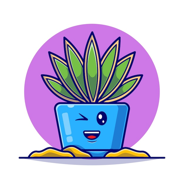 Plant cute collection flat illustration