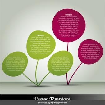 Planta abstrata infográfico