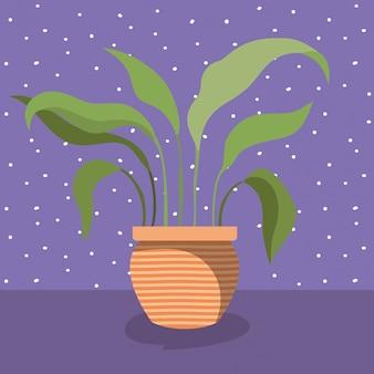 Planta de casa no ícone do pote