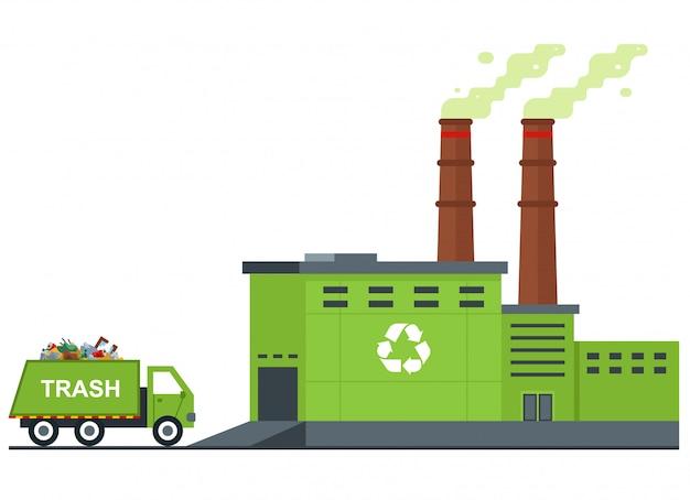 Planta de processamento de lixo.