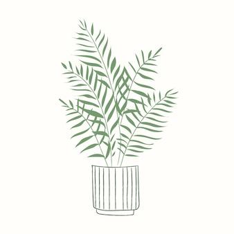 Planta em vaso vetor planta de casa palmeira dourada
