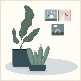 Planta para uso em design para impressão de interiores domésticos