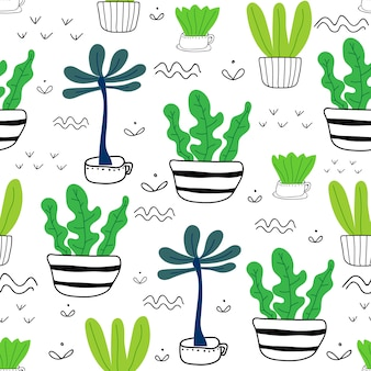 Planta suculenta sem costura de fundo.