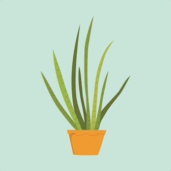 Planta tropical em vetor pot premium adequado para múltiplas finalidades