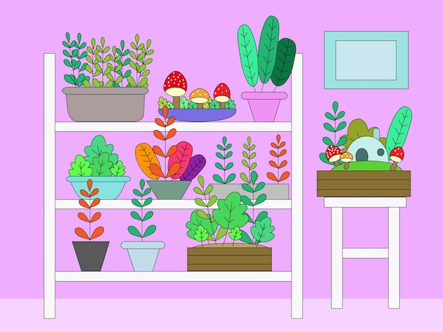 Plantas de sala de coleta.