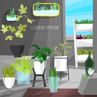 Plantas em vasos de plantas em vasos de plantas em vasos cactos botânicos aloe para decoração de interiores de casa com coleção floral de ilustração jardim botânico, isolado no fundo branco