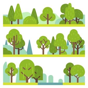 Plantas florestais e parques