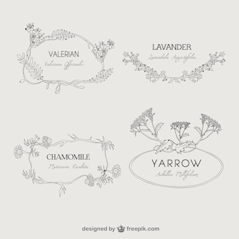 Plantas naturais emblemas