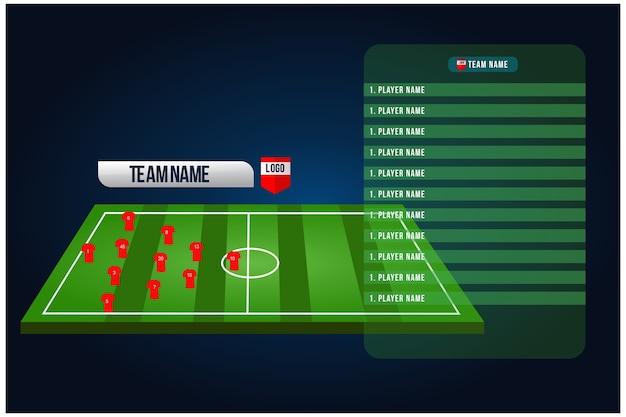 Plantel de formação inicial de futebol.