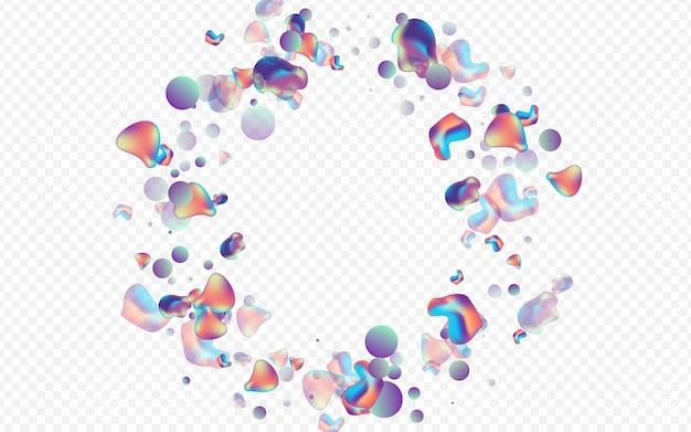 Plástico de holografia colorida