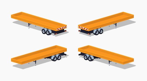 Plataforma aberta amarela de baixo poli