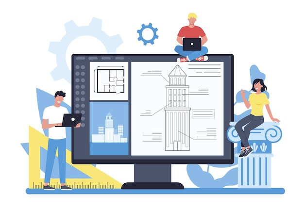 Plataforma de arquitetura online em diferentes conceitos de dispositivos