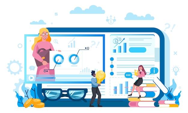 Plataforma de serviço de consultor tributário em conceito de dispositivo diferente