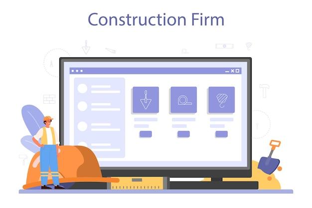 Plataforma ou serviço online de construção de casas.