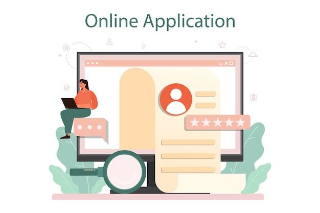 Plataforma ou serviço online de entrevista de emprego.