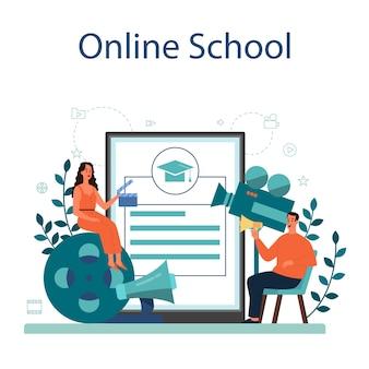 Plataforma ou serviço online do produtor. produção cinematográfica e musical
