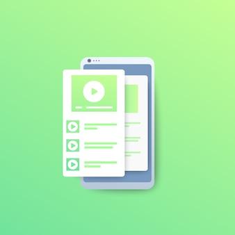 Player de vídeo com lista de reprodução