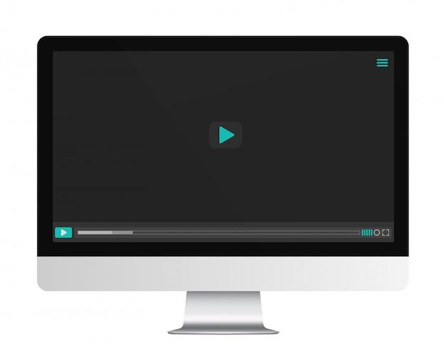 Player de vídeo na tela