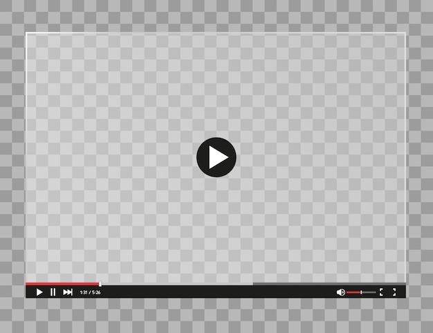 Player de vídeo para estilo simples de aplicativos móveis e da web.