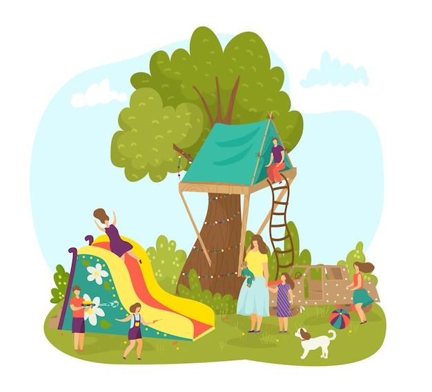 Playground em parque natural