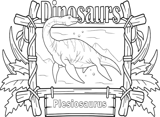 Plesiossauro de dinossauro