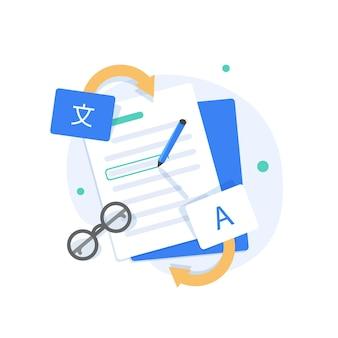 Plugin de tradução traduzir idiomas ilustração em vetor ícone design plano