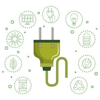 Plugue de energia verde